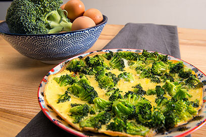 Omelet met broccoli